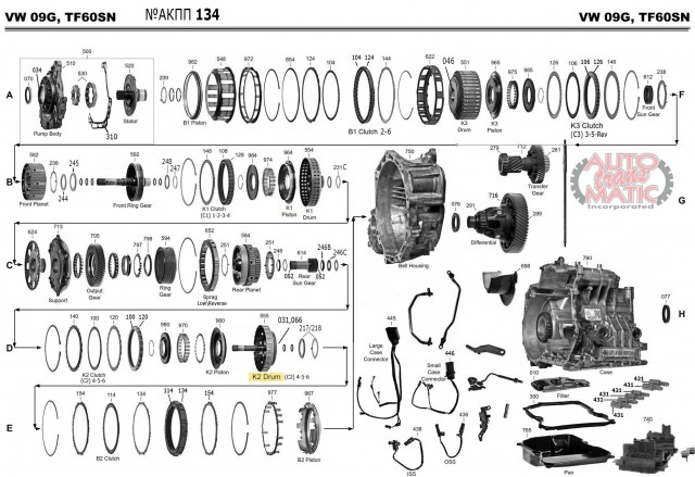АКПП - TF-60SN/09G