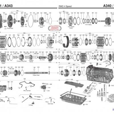 АКПП - A340E /F /H
