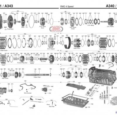 АКПП - AW30-40LE\-43 -41LS /LE (AW4)